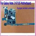 100% prueba uno por uno, n7105 mainboard, original europa versión abierto para samsung galaxy note 2 n7105 motherboard, envío libre