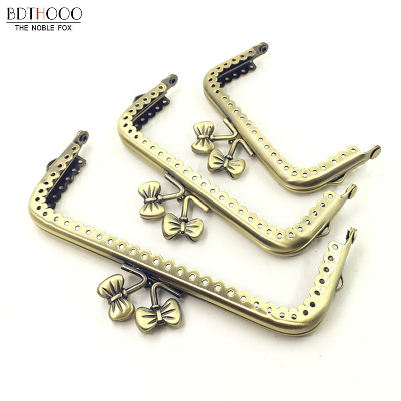 New 1 Pcs Metal Frame Purse Handle Coins Bags Bow-knot Head Kiss Clasp Lock Frame For Bag Accessories 8.5/10.5/12.5cm