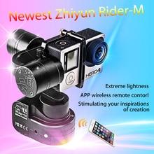 Envío Libre!!! Usable Zhiyun Z1-Rider M WG 3 Ejes Sin Escobillas del cardán para GoPro Héroe 1/2/3/3 +/4/5 para Xiaoyi Deportes Cámara
