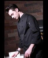 Neue Ankunft! Restaurant langhülse Mann Küchenchef Jacken Kaffee Bar Koch Anzug Uniform Klassische Herren Top Jacken  J90