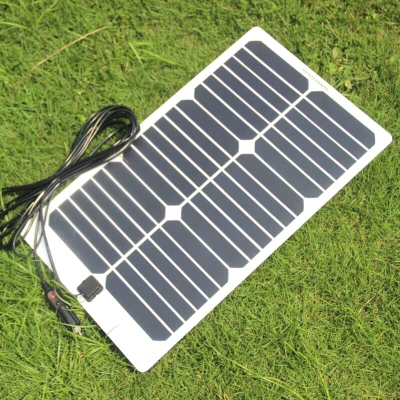 BUHESHUI Semi-flexible 20 W 18 V Module de panneau solaire pour 12 V voiture bateau moteur batterie chargeur bricolage système solaire Sunpower panneau 2 pièces