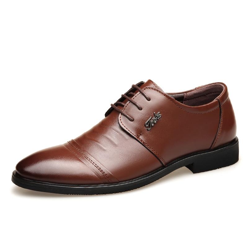 100% QualitäT 2019 Männer Echte Leder Schuhe 38-44 Braun Herbst Weichen Leder Mann Kleid Schuhe Leder Echte Schuhe GroßE Auswahl;