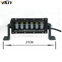 Yait Double Beam 10 Inch 48W Single Row LED Work Light Bar For Tractor Boat OffRoad