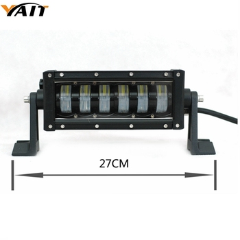 Yait Double Beam 10 Inch 48W Single Row LED Work Light Bar for Tractor Boat OffRoad 4WD 4x4 Car Truck SUV ATV straight Light bar