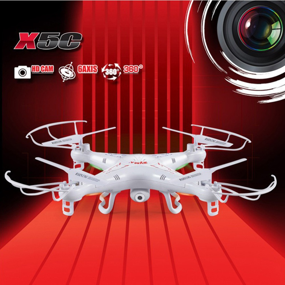 SYMA X5C X5C-1 2MP HD FPV 2MP caméra 2.4 GHz 4CH 6 axes RC hélicoptère quadrirotor Drone hélicoptère RC jouet Drone avec caméra
