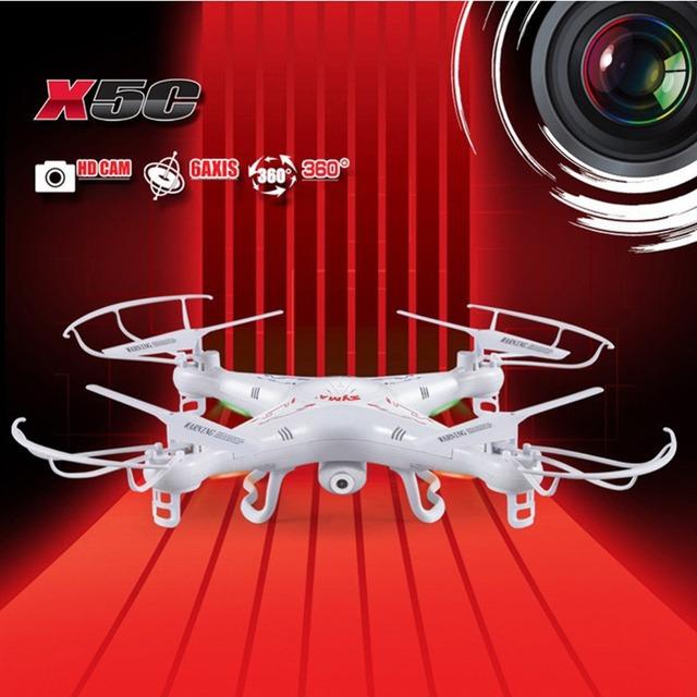 SYMA X5C X5C-12.4G 2MP Câmera de 2MP HD FPV 2.4 GHz 4CH 6 Eixos RC Helicóptero Quadcopter Zangão Helicóptero de Brinquedo do RC Drone com câmera