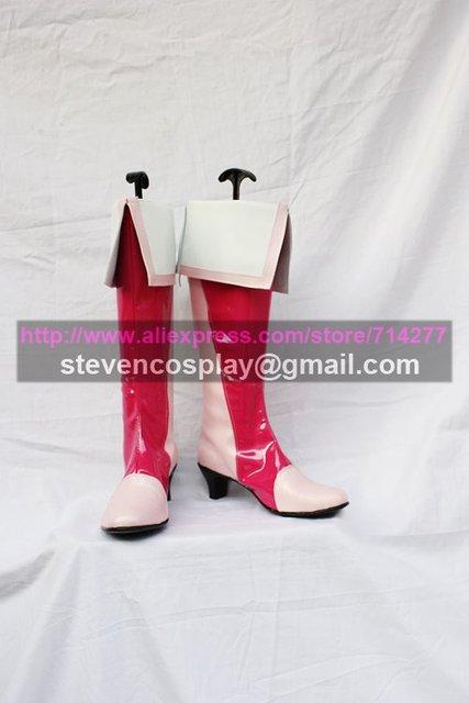 На заказ Дешевые Люкс довольно лечения вылечить персик ботинки для костюмированной вечеринки Косплэй Обувь Хэллоуин