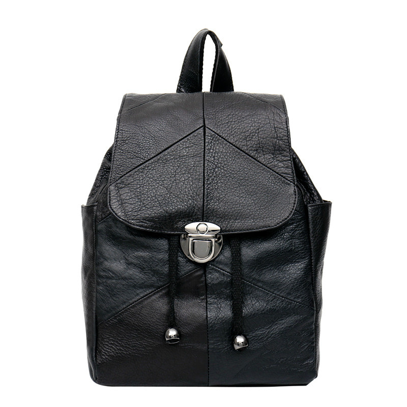 ФОТО Hot 2017 Women's Backpack Mass Classic Style Genuine Leather School Bag Women Casual Style Backpacks Brand Design Sindermore