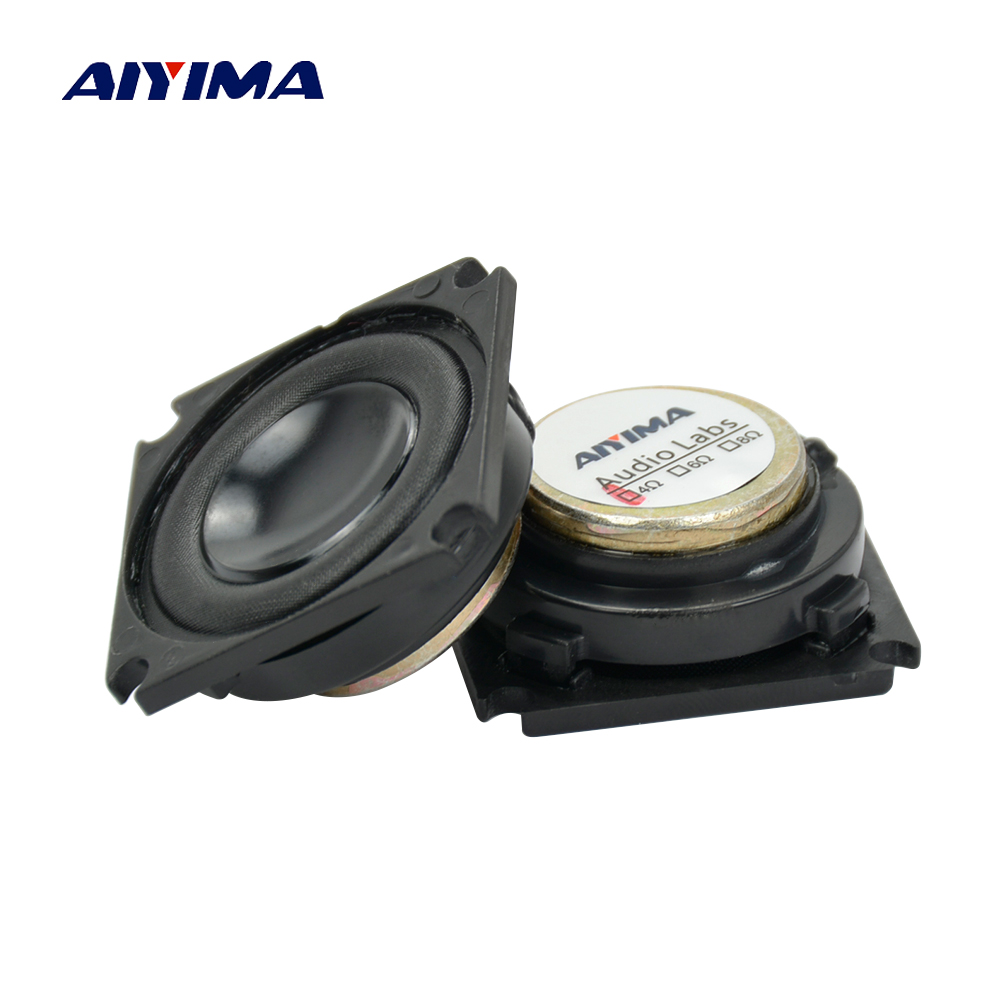 Aiyima 2PC Full Range Speaker 1.25inch 4ohm 3W Neodymium Magnetic Audio Speaker For Bluetooth Audio DIY цена 2017