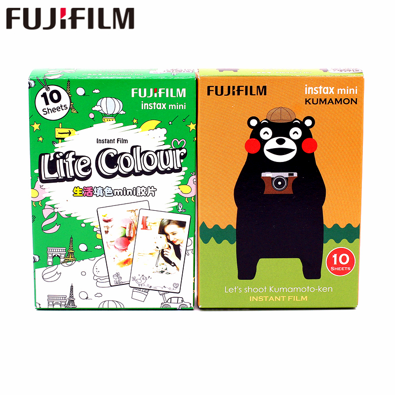 Galleria fotografica Fujifilm Fuji Instax Mini 8 20 Sheets KUMAMON bear and life color Film For 7 8 9 50s 7s 90 25 Share SP-1 SP-2 Instant Cameras
