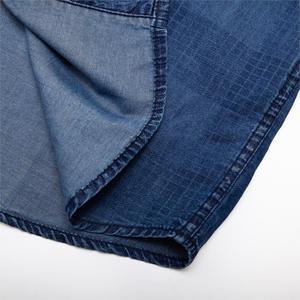 Image 5 - Fredd Marshall 2019 New Fashion Casual Denim Shirt Men Slim Fit Long Sleeve 100% Cotton Plaid Shirt Male Brand Clothing 200