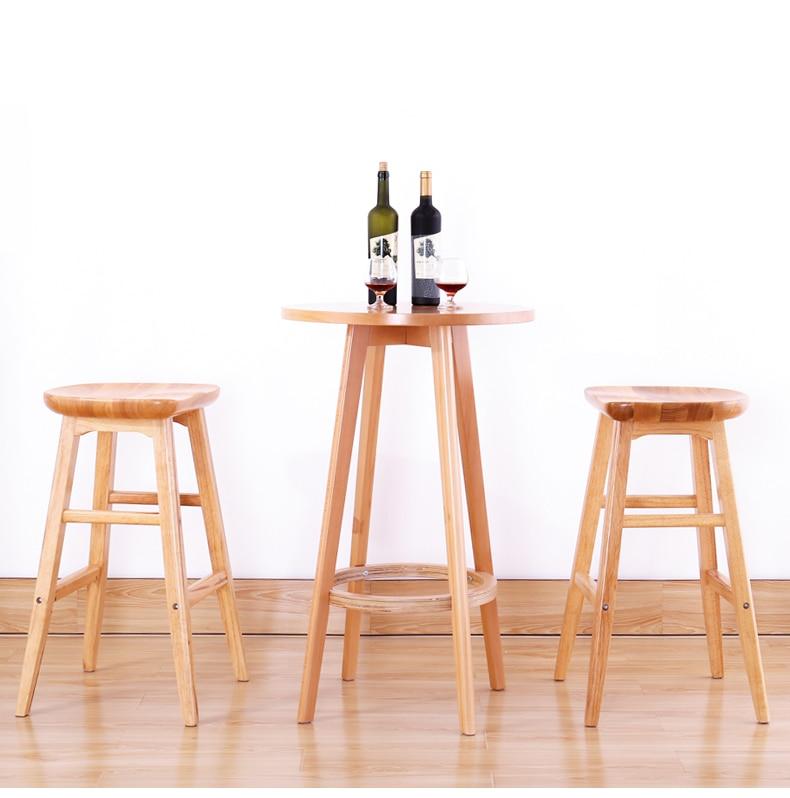 Solid wood bar stool American modern minimalist front desk stool creative European home high bar stool