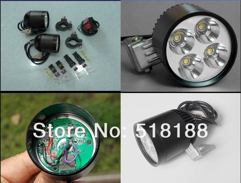 LDDCZENGHUITEC светодиодный фара мотоцикла HID 35 Вт чип XML U2 4 Светодиодный прожектор с Автоматическая Затемняющая функция и быстро мигает