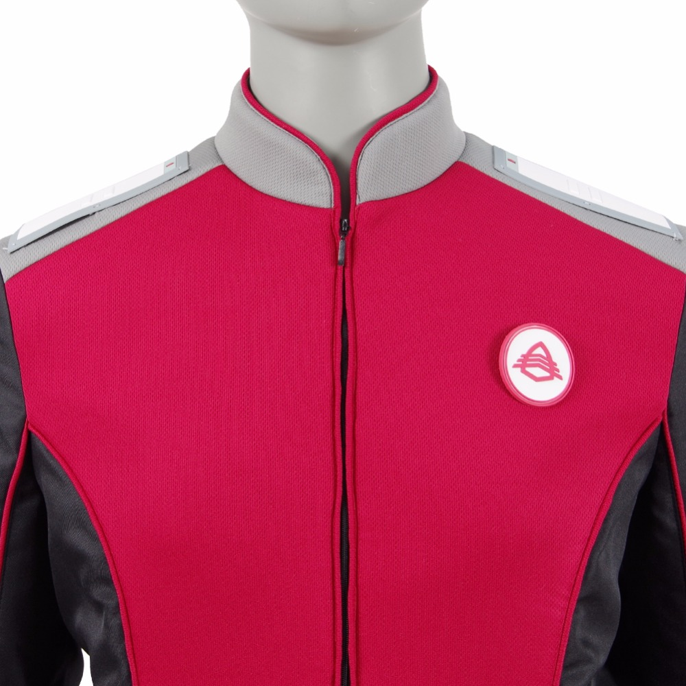 Image 5 - The Orville Security Department Alara Kitan Uniform Cosplay Costume 2017 Starfleet Red Lieutenant Halloween Duty Outfit-in Movie & TV costumes from Novelty & Special Use