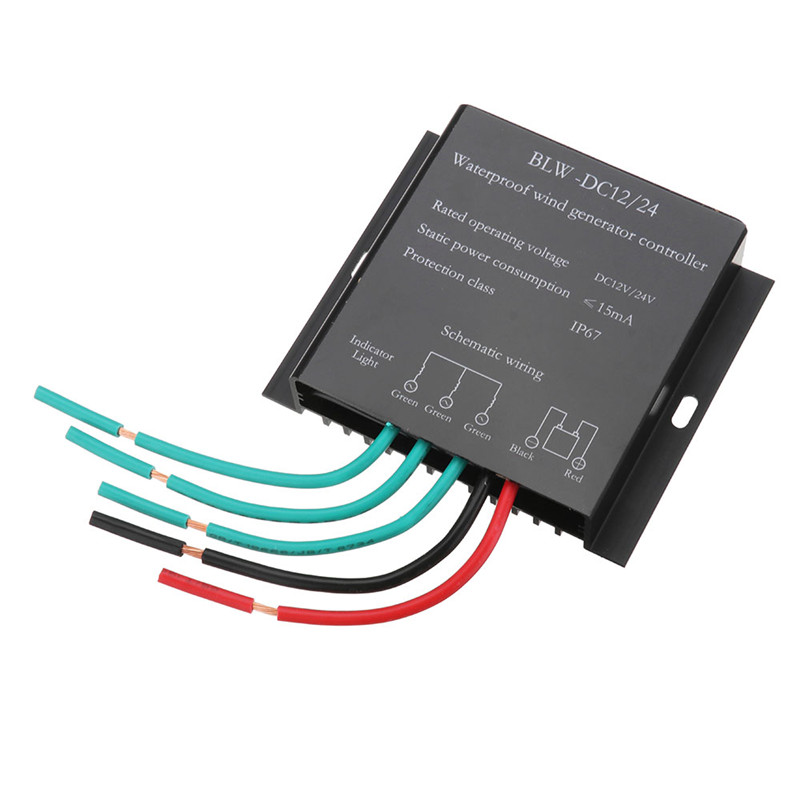 100W-800W DC 12V/24V Wind Turbines Generator Waterproof Battery Charge Controller Regulator