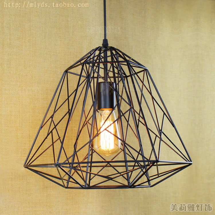 RH American Country Vintage Industrial Lamp Edison Pendant Lights Fixtures In Retro Loft Style Hanging Light Lampara Lighting