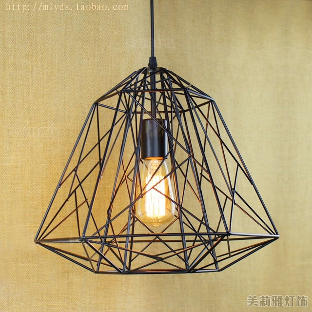RH American Country Vintage Industrial Lamp Edison Pendant Lights ...