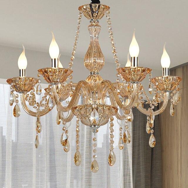 US $134.67 29% di SCONTO Lampadari moderni Per camere da letto Lustro di  Colore Cognac lampadario Cucina Lampadari Pendientes moderna apparecchi di  ...