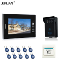 JERUAN Banrd NEW 7`` Color Video Intercom Entry Door Phone System 1 monitor + 700TVL RFID Access Waterproof Camera FREE SHIPPING