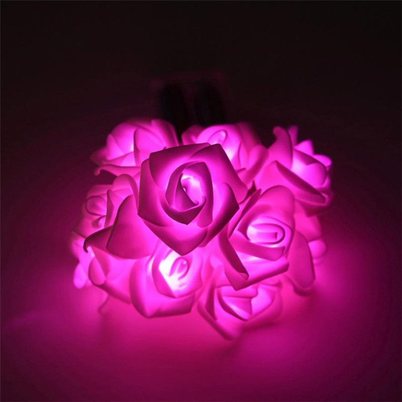 10 Led Romantic Rose Flower Led string light Wedding Christmas Party decoration DIY Copper wire flower lamps fansy lighting sale