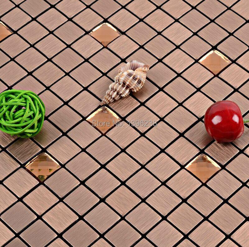 LSLCB005,Brown mirror mosaic tiles,square mirror mosaic tiles,metal mirror mosaic tiles