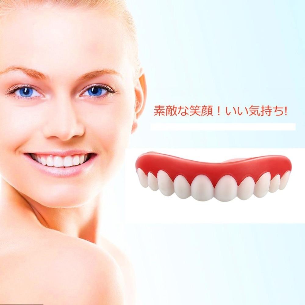 YKS Comfortable Natural Silicone Whitening Veneers Men Women Teeth Upper Cosmetic Veneer Perfect Smile Tooth Cover Beauty Tool 4