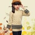 Новый Осень Зима Детские Мальчики Девочки Дети детские Теплые Водолазки Свитера Пуловеры Кардиганы Одежда Верхняя Верхняя Одежда