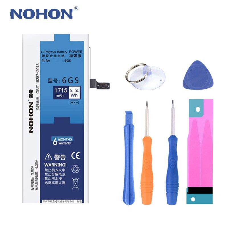 NOHON Handy Batterie Für iPhone 6 S 6 S Original Ersatz 1715 mAh Lithium-Polymer-Batterien Kostenloser Werkzeuge Einzelhandel paket