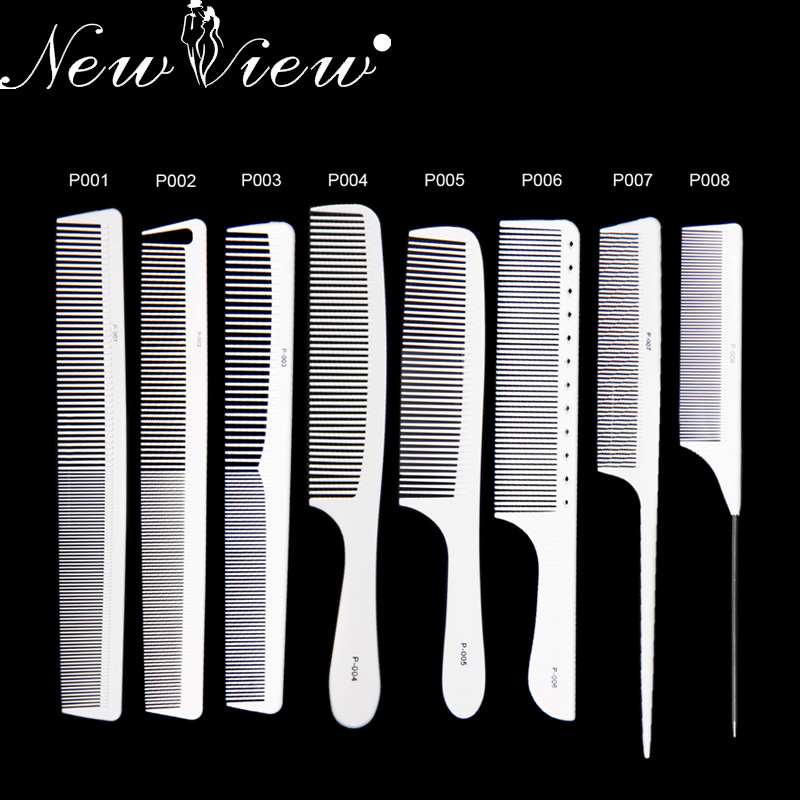 1 Set Hairdressing Comb Professional Carbon Hair Cutting Combs Antistatic Tail Comb For Barber Hairdresser Styling Tools Salon