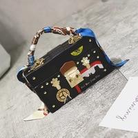 2016 new fashion handbags wholesale scarf small bag Korean hit color Bag Shoulder Bag Handbag cross