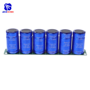 Super kondensatory Farad 6 sztuk/zestaw 2.7 V 500F Super kondensator z płyta ochronna jednorzędowe 16 V 83F Farad kondensator do samochód