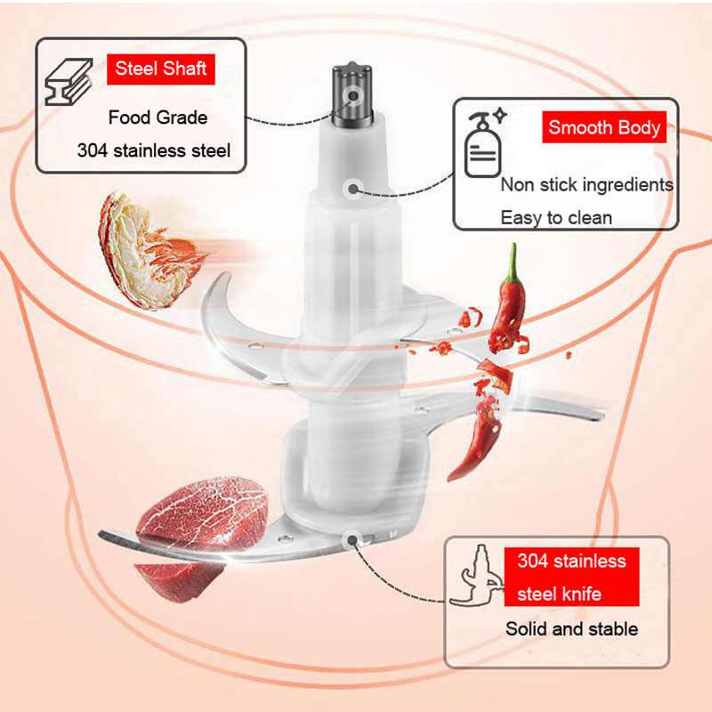 Aço inoxidável moedor de carne alimentos para bebê chopper elétrico automático máquina picar alta qualidade moedor doméstico processador alimentos
