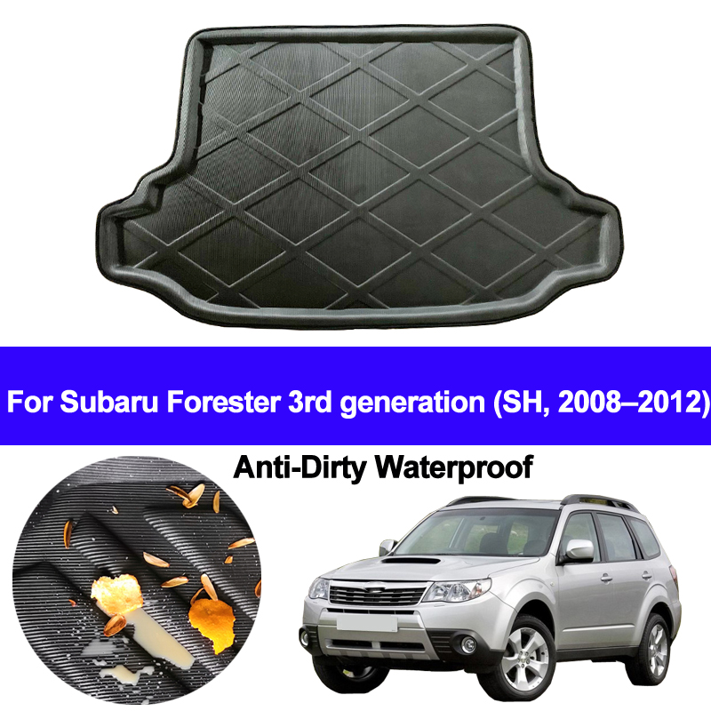Car Rear Boot Cargo Liner Trunk Floor Carpets Tray Mats Pad Carpet For Subaru Forester 3rd Generation SH 2008 - 2010 2011 2012