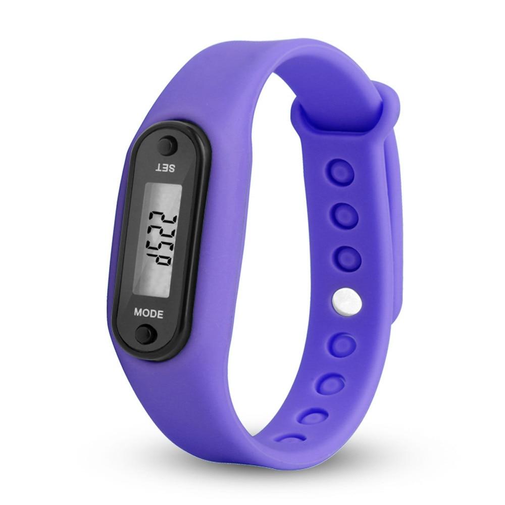 Digitale Lila Lcd Uhr Run Schritt Walking Distance Calorie Pedometer Silikon Kalorien Sport Armband Uhr Für Drishipping N0807 Dauerhafter Service Fitnessgeräte