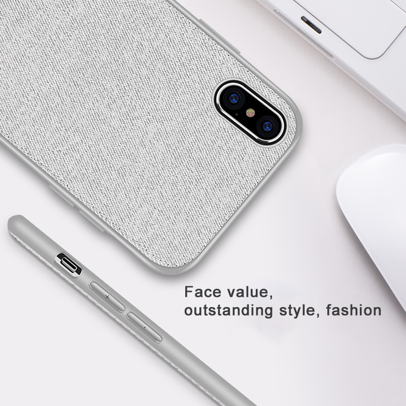Vintage Ultra Slim Business Fabric Soft Cloth Protect Phone Cases For iPhone 3