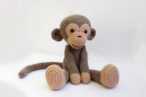 ФОТО Monkey - Amigurumi MonkeyCrochet Stuffed animals  doll shower