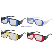 Двухцветная оправа круговой поляризованный пассивный 3D стерео очки для реального D 3D ТВ кино