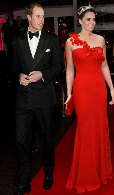 Sexy Geïnspireerd door Kate Middleton Rode Loper Celebrity Avondjurk ...