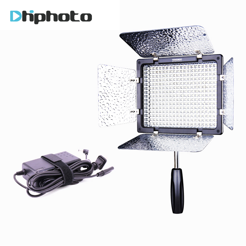 Yongnuo YN300 III 3200K-5500K LED Video light with Power Adapter On Camera Photo Studio Lighting for Canon Nikon Olympus Wedding free shipping yongnuo yn300 iii led 5500k camera video flash light yn300 iii for dslr camera olympus app yongguo np 750 5200mah
