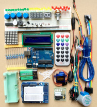 UNO R3 Starter KIT Microcontroller learning kit Step Motor Servo 1602 LCD Breadboard jumper Wire for arduino learning packages [sintron] uno r3 upgrade kit with motor lcd servo module for arduino avr starter