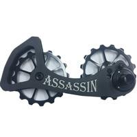 ASSASSIN Bicycle Rear Derailleur Pulleys Wheel 16T 16T Bike Jockey Wheel For Shimano 6800 6870 9000 9070 Bicycle Parts Ultegra