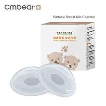 Reusable Cmbear portable Breast Feeding Collector Postpartum pregnant women Prevent leakage milk PP material Manual breast pump