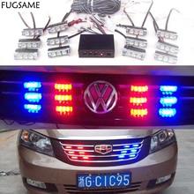 FREE SHIPPING  LED Fire Emergency Strobe Warning Lights AMBER WHITE 3 Flashing Mode 12*3LED цена