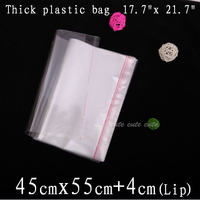 100pcs 45cmx55cm 4cm Top Quality Large Clear Opp Bag Self Adhesive Seal Polyproplene Cello Bags