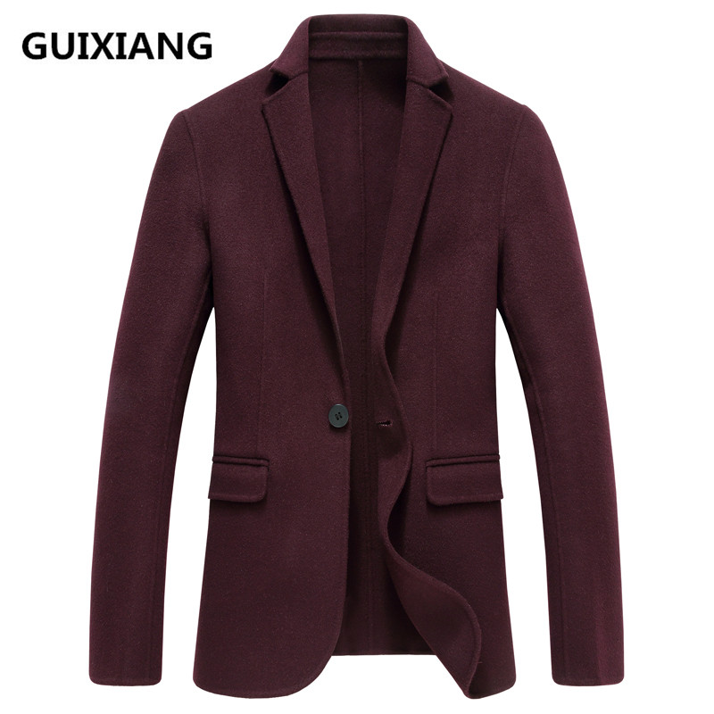 2018 Spring New Style Coats Men's Fashion Double-faced Woolen Suits Jacket Men's Casual Men's Woolen Business Blazers Man