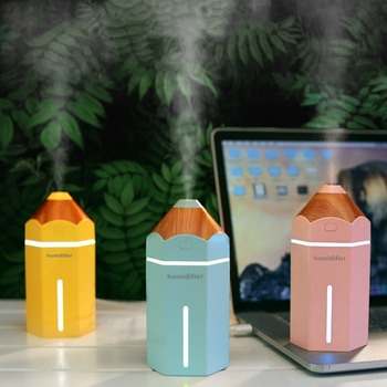 230ML Ultrasonic Air humidifier with LED  night light  USB Essential Aroma  Oil Diffuser Fogger Mist Maker for Home Car