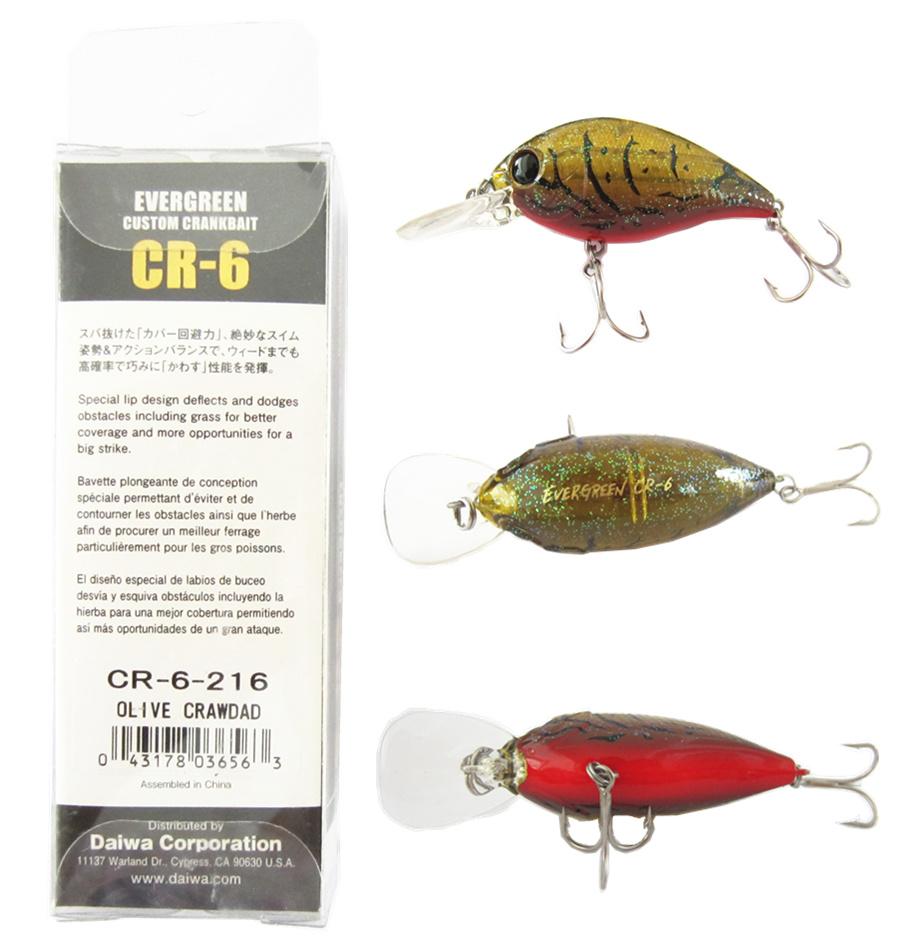 100% Orinigal EVERGREEN Fishing Lure custom crankbait Floating LURE the  best baits