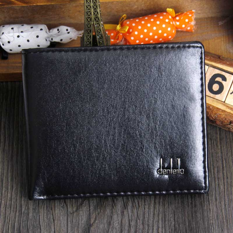 Maison Fabre Men Bifold Business PU Leather Wallet ID Credit Card Holder Purse Pockets  Clutch Bag p# dropship fashion solid pu leather credit card holder slim wallet men luxury brand design business card organizer id holder case no zipper