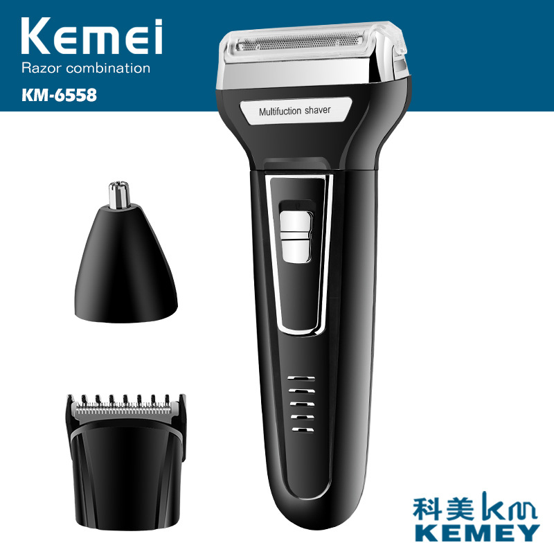 Electric Shaver Multifunctional Reciprocating Electric Razor Floating Twin Blade Heads Waterproof Quick Charge Face Care Tools sid razor blade razor reciprocating 2 one hour shaver electric abs face twin blade reciprocating electric