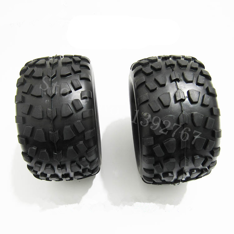 Image 2 - 4Piece/Lot RC Rubber Sponge Tires Tyre Rim Wheel For RC 1/10 Scale Models RC Car HSP Off Road Monster Truck 94111 94108 94188-in Parts & Accessories from Toys & Hobbies